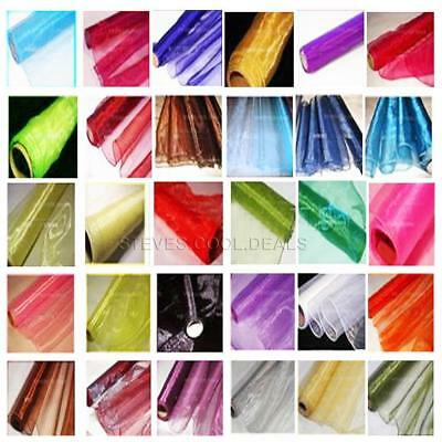 Edged ORGANZA FABRIC DRAPING SWAGS DOOR BOWS WEDDING TABLE RUNNERS MATERIAL 9M  • 2.20£