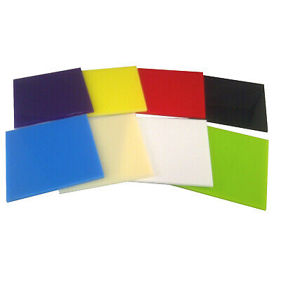 £6.76 • Buy Coloured Perspex® Acrylic Plastic Sheet Craft & Schools / 3mm Thick Pack Of 8