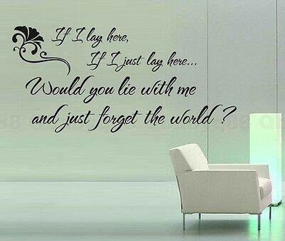 If I Lay Here Wall Quotes Decal Removable Stickers Decor Vinyl Home Art Mural • 7.31£