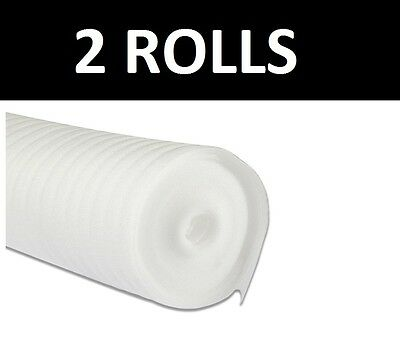 30m² - 2mm Acoustic Comfort White Underlay - Wood / Laminate Flooring - Cheap • 12.44£