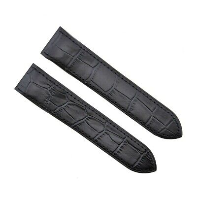 £25.33 • Buy 24.5mm Watch Band Strap For Cartier Santos 100xl 2740 Chronograph Black