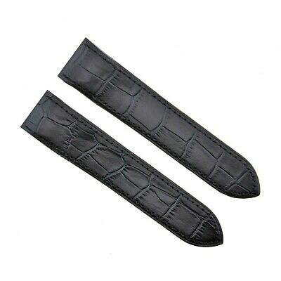 £25.32 • Buy 24.5mm Watch Band Strap For Fit Cartier Santos 100xl Watch Chronograph Black