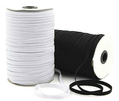 $ CDN60.31 • Buy Elastic 8 Cord Flat, 6mm Wide, Available In Black Or White & Different Lengths