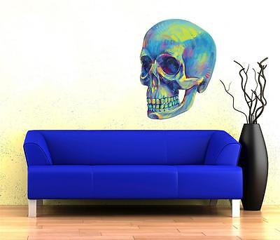 Wall Art Sticker - Full Colour - Psychedelic Skull, Goth,Punk. • 19.95£