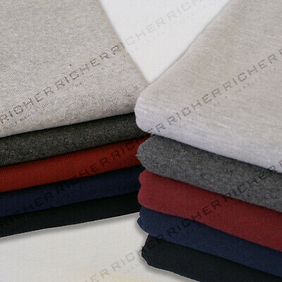 £6.75 • Buy 100% Knitted Cotton Heavyweight Jersey Loop Back Sweatshirt Fabric Material