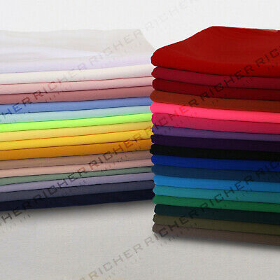 £3.65 • Buy 100% Polyester Interlock Stretch Jersey Lining Fabric Material 150cm Wide