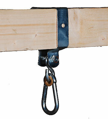 SWING HOOK 90x90mm FOR SQUARE WOOD CLIMBING FRAME HAPPY PLAYGROUNDS • 8£