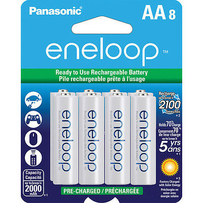 £19.60 • Buy Panasonic Eneloop AA-8 Pre-Charged Up To 2000mAh Rechargeable Battery BK-3MCCA8B