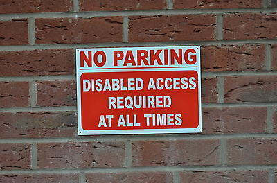 £2.99 • Buy NO PARKING DISABLED ACCESS REQUIRED AT ALL TIMES Sign Or Sticker 3 Sizes Road