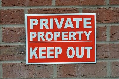 Private Property Keep Out Plastic Or Metal Sign Or Sticker Choice Of 3 Sizes  • 4.99£