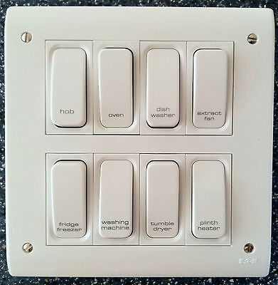 £9.95 • Buy Grid Switch / Multi Gang Switch / Engraved Switch / Printed Switch