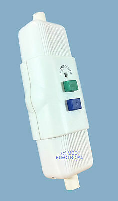 In Line RCD Safety Trip Switch With Test & Reset Switch • 16.45£