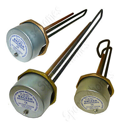 """Genuine Backer Immersion Heater Hot Water Element Incoloy Hard Water 11, 18, 27"""" • 35.18£"""
