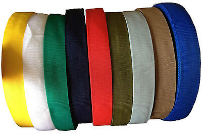 Polypropylene Webbing Strap Tape Choice Of Colour Width And Length  • 4.09£