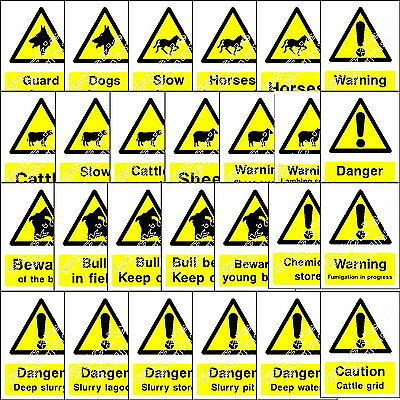 Countryside Information Danger Warning Notices Private Land Signs And Stickers 1 • 20.80£