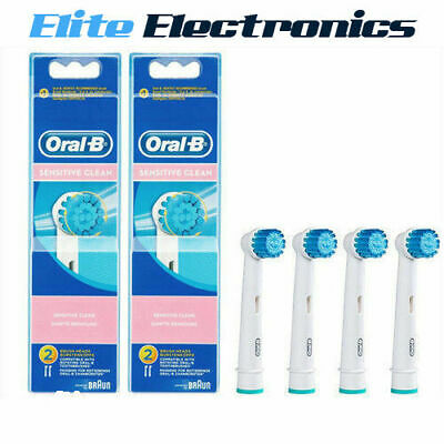 AU39.85 • Buy 4 X ORAL-B SENSITIVE CLEAN REPLACEMENT ELECTRIC TOOTHBRUSH BRUSH HEADS VITALITY