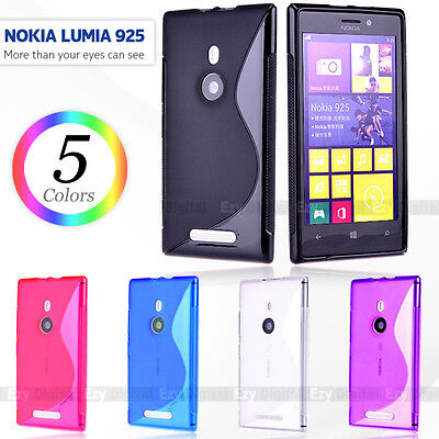 AU12.95 • Buy Premium S CURVE LINE GEL JELLY TPU CASE COVER FOR NOKIA LUMIA 925
