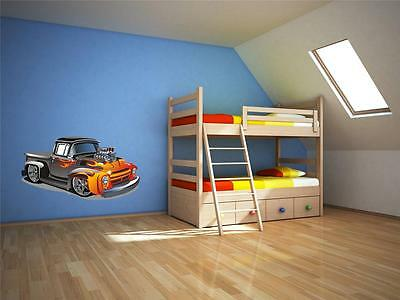 £14.95 • Buy Wall Art Sticker Decal Transfer Hot Rod Car Engine Pick Up Truck Flame Fire