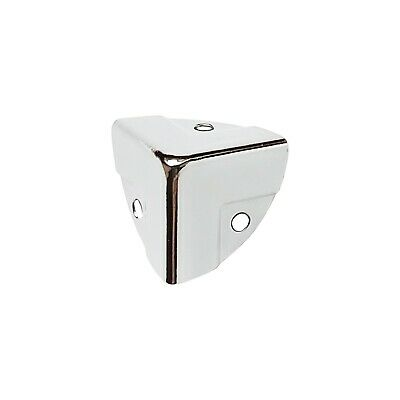 £3.63 • Buy Qty 8 - Case Corners - Covers Protectors Box Trunk Chest - Nickel Plated