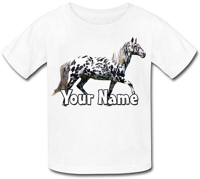 Childs Personalised Appaloosa Grey Pony / Horse  Kids T-shirt - Gift & Named • 9.99£