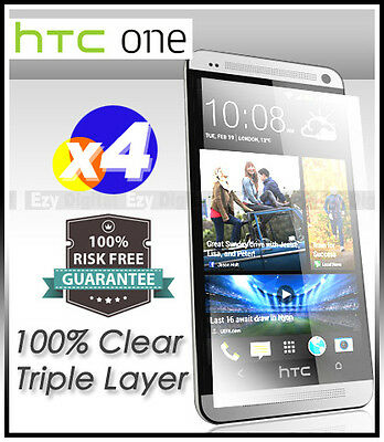 AU3.49 • Buy 4 X Top Grade Ultra CLEAR Screen Protector Guard Film For HTC ONE Mini M4 610E