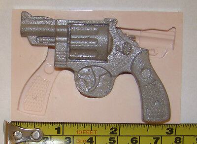 Large Silicone Revolver Gun Mould Cowboy Icing Cake Cupcake Decorating Fimo Clay • 6.49£
