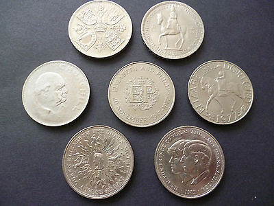 £16 • Buy Crown Coins Set Of Seven Qe2 Crowns Dated, 1953,1960,1965,1972,1977,1980, 1981.