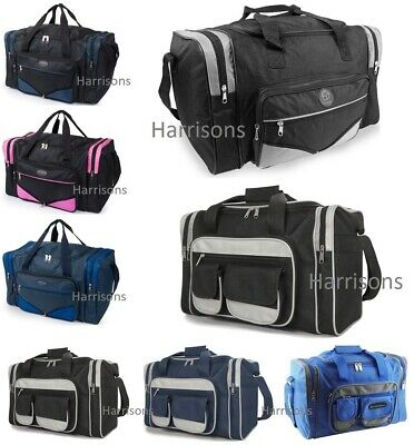 Ladies Mens Holdall Weekend Travel Gym Sports Bag 16  & 19.5  Small Hand Luggage • 9.99£