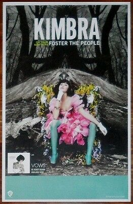 $26.99 • Buy KIMBRA Vows Ltd Ed New RARE Tour Poster! FOSTER THE PEOPLE M83 LORDE THE XX