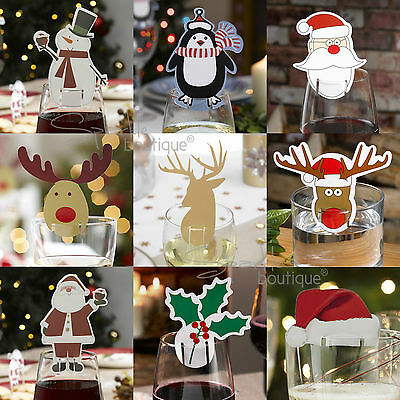 £2.59 • Buy Christmas Glass Decorations / Place Name Cards X 10 - Xmas Party Table Settings