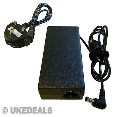 Laptop AC Charger For Sony Vaio VGP-AC19V27 VGP-AC19V33 90W + LEAD POWER CORD • 12.75£