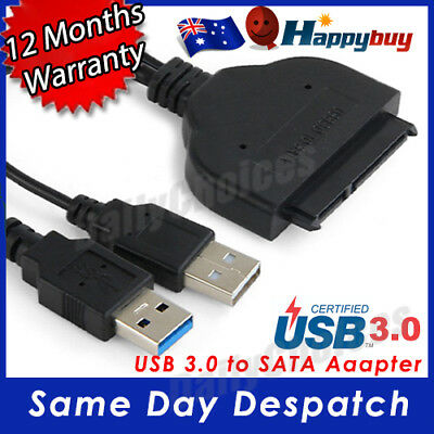 AU8.89 • Buy USB 3.0 To SATA External Converter Adapter Cable For 2.5  HDD SSD SATA III