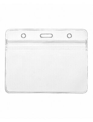 10x EXPO Horizontal Clear ID Badge Card Plastic Business Pocket Holder 11 X 9cm • 2.99£