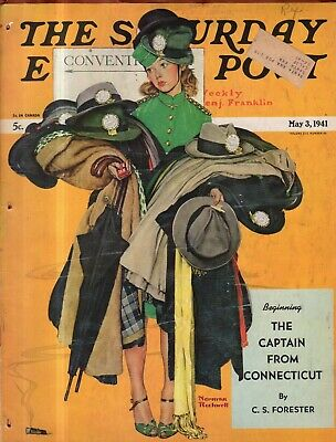 $ CDN39.55 • Buy 1941 Saturday Evening Post May 3- Norman Rockwell; Nazis Occupy France; Westerns