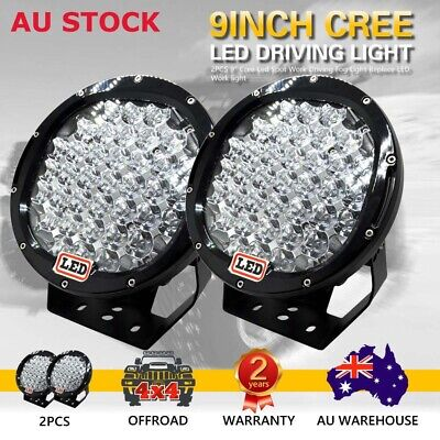 AU118.75 • Buy PAIR 9INCH 99999W CREE LED Driving Lights Spot Lights Offroad REPLACE HID Lights