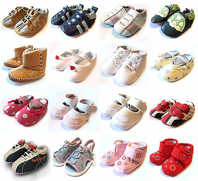 Baby Shoes Soft Boys/girls Toddler Pram Trainers Infant Sandals 0-6, 6-12 Months • 4.99£