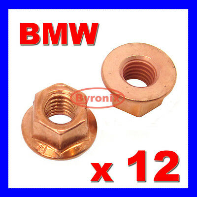 £4.55 • Buy Bmw E30 E21 Exhaust Manifold Pipe Head Stud Nut M8 Nuts Hex Flange Copper