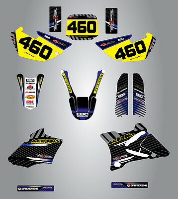 AU149.40 • Buy Full Custom Graphic Kit Yamaha YZ 85  - 2002 - 2014 Factory Style Stickers Kit