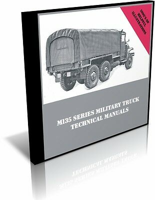 $11.87 • Buy M135 Military Truck Technical Manuals On DVD