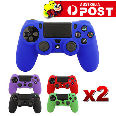 AU6.95 • Buy 2x Soft Silicone SKIN Gel Cover Case For Sony Playstation PS4 PS 4 Controller