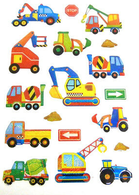 Digger Construction Stickers Kids Labels For Craft Decoration Card-Making CRY10 • 2.50£