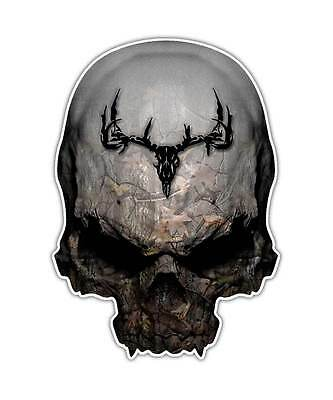 $11.99 • Buy 2 Pack Camouflage Skull Deer Decal Archery Hunting Sticker Truck Car Bow Window