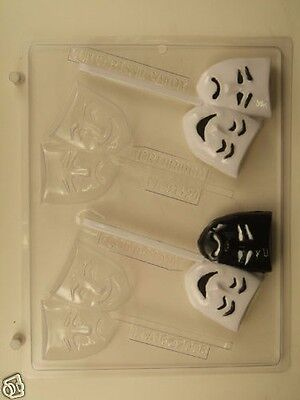 £2.54 • Buy Drama Comedy Tragedy Masks Lollipop Clear Plastic Chocolate Candy Mold Lca016