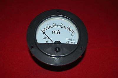 $8.28 • Buy DC 0-50mA Round Analog Ammeter Panel AMP Current Meter Dia. 90mm Direct Connect