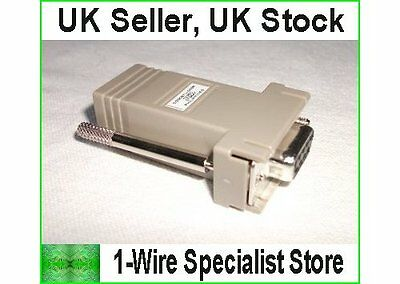 DS9097U-009 Serial To 1-wire Adapter Dallas Maxim Digitemp DS18S20 DS18B20 • 26.95£