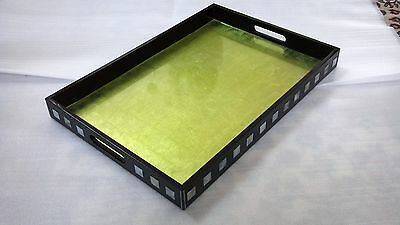 Rectangular Lacquer Tray - Mother Of Pearl Inlay • 56.51£