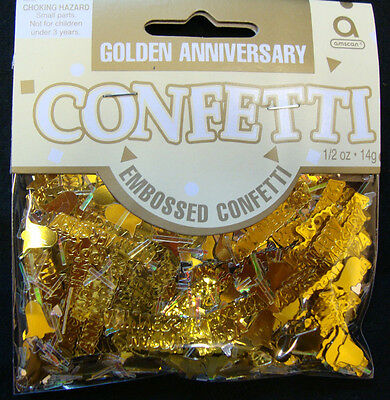 Golden Wedding Table Confetti 50th Anniversary Sprinkles Table Decorations • 2.25£