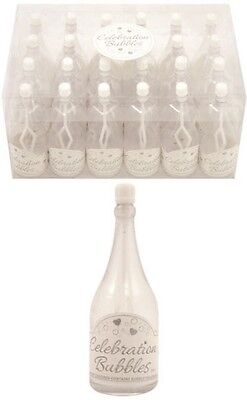 £7.99 • Buy 12x Champagne Bottle Wedding Favors Bubbles Party Table Decorations In White UK
