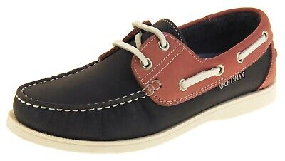 Womens Leather YACHTSMAN Smart Boat Formal Moccasins Lace Up Sailing Deck Shoes • 44.95£