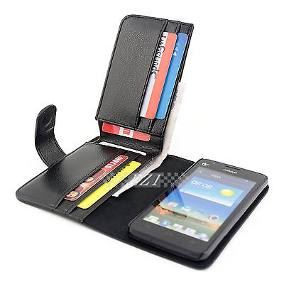 AU19.96 • Buy 2x Long Wallet Credit Flip Leather Case Cover For Huawei Ascend G510